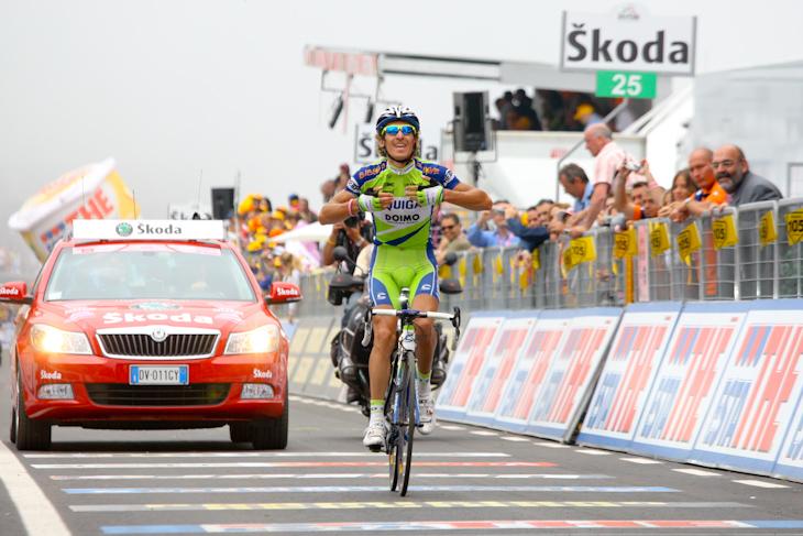ニュースーパーシックスHi-Modを駆り、ジロ・デ・イタリア2009第17ステージを制したフランコ・ペッリツォッティ(イタリア、リクイガス)