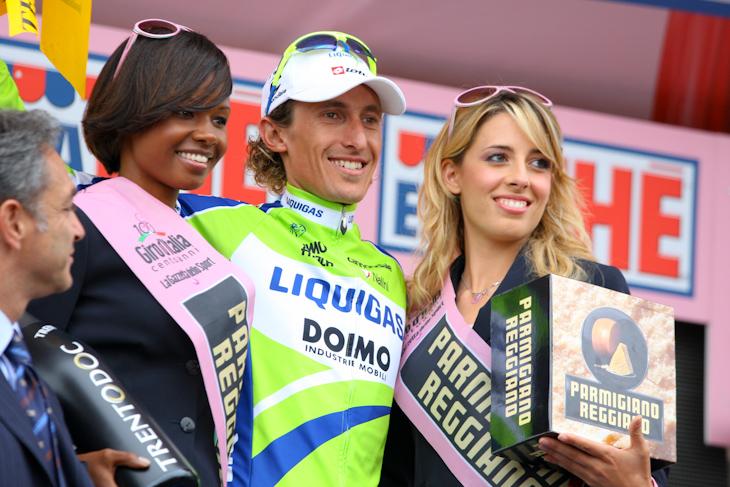 第17ステージ優勝を果たしたフランコ・ペッリツォッティ(イタリア、リクイガス)
