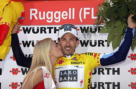 前哨戦・ツール・ド・スイスのTTで復活勝利を遂げたファビアン・カンチェラーラ(スイス・サクソバンク)。狙うはもちろんTTステージの勝利。平坦ステージ残り1-2kmからの、スプリンターを出し抜く豪快なアタックも要注目だ