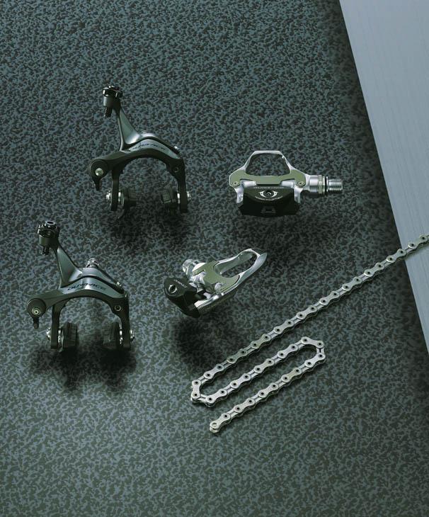 デュラエース7900シリーズのブレーキ、チェーン(ペダルはPD-7810)