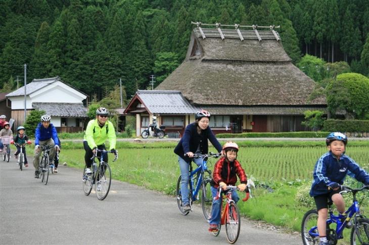 豊かな自然の美山町周辺をサイクリング