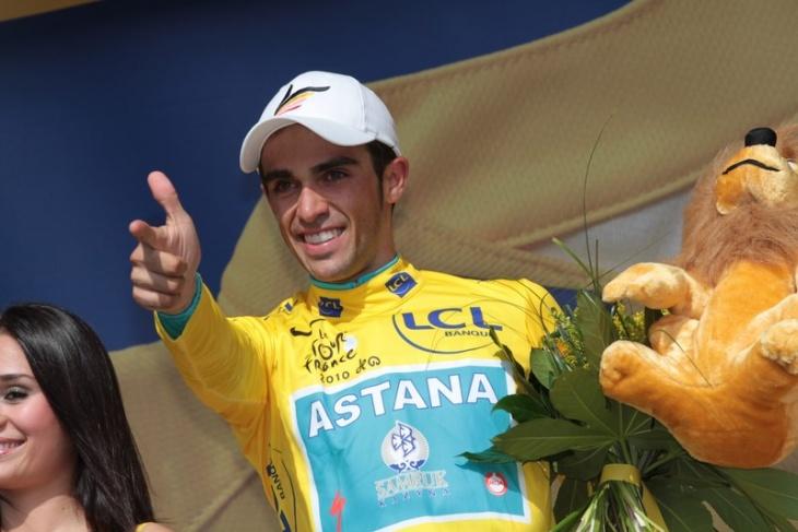 総合優勝に王手をかけたアルベルト・コンタドール(スペイン、アスタナ)