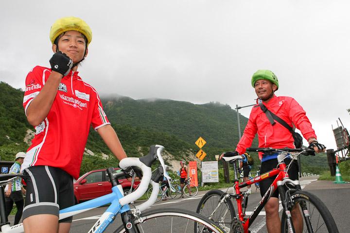 京都から参加の前田さん親子。息子の充貴君が勝ちました