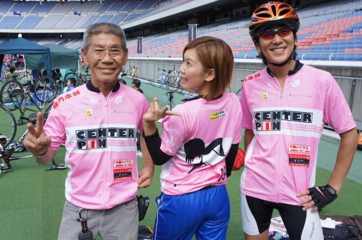 チームセンターピンは右端の加藤さんが仲間を集めて結成