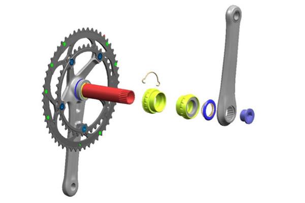 ... ・クランクの構造図 | cyclowired : 自転車の構造 : 自転車の