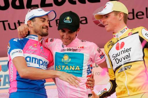 2008年ジロ・デ・イタリアで総合2位に入ったリカルド・リッコ(イタリア、当時サウニエルドゥバル・スコット)