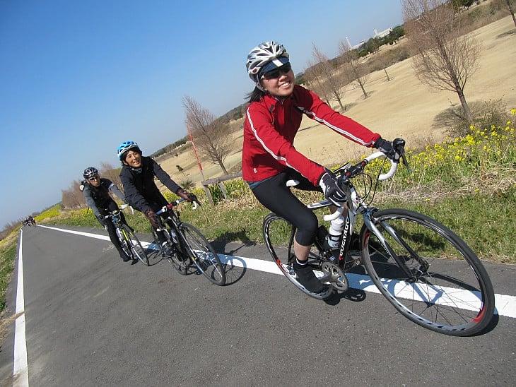 荒川サイクリングロードはいい天気!