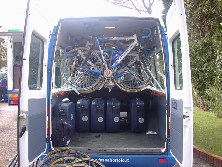 小型のミニバンとはいえ自転車とトランクが最大限積載できるように工夫されていた