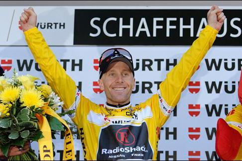 ツール・ド・スイスで逆転総合優勝に輝いたリーヴァイ・ライプハイマー(アメリカ、レディオシャック)