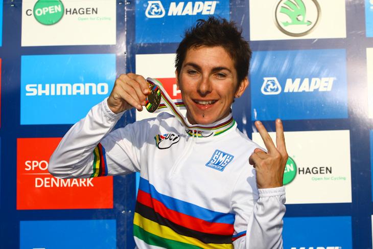 2010、2011年女子ロード世界チャンピオンのジョルジャ・ブロンジーニ(イタリア)