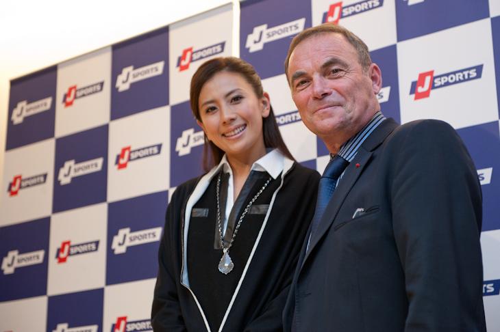 スペシャルゲストの長谷川理恵さんとベルナール・イノー氏 photo : Sonoko TANAK