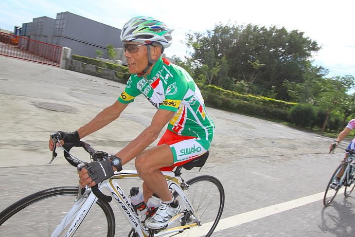 75歳の田口重喜さん(スワコレーシング)は昨年も完走している