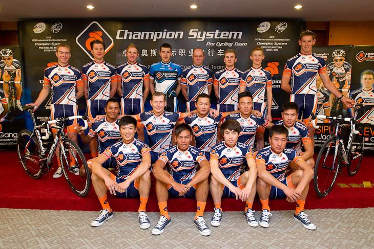 2012年にアジア初のUCIプロコンチネンタルチームに昇格した「チャンピオンシステム」