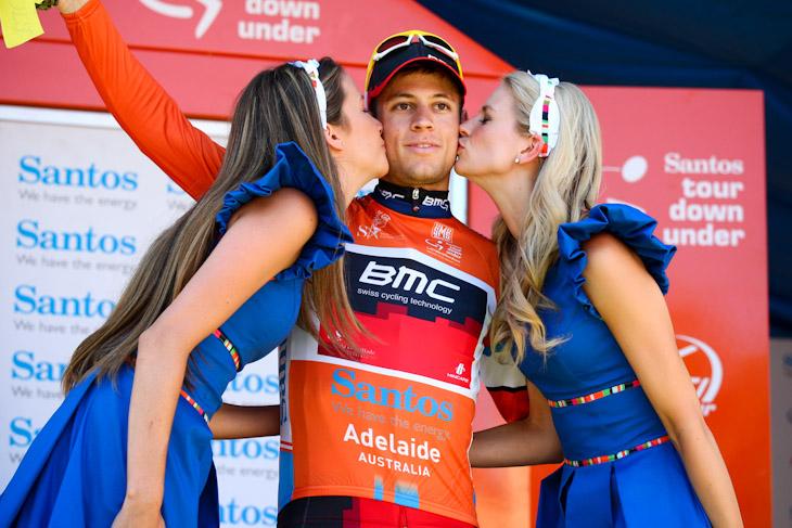 リーダージャージに再び袖を通したマルティン・コーラー(スイス、BMCレーシングチーム)