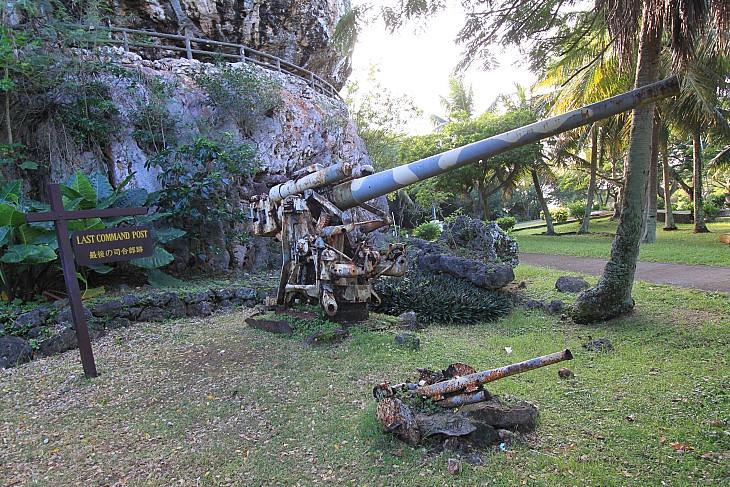 ラストコマンドポストに残された高射砲の残骸