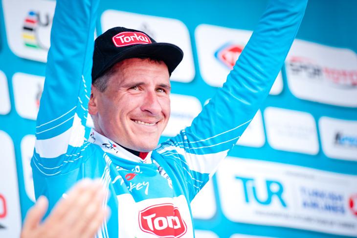 新しくレースリーダーとなったイヴァイロ・ガブロフスキー(ブルガリア、コンヤ・トルク)