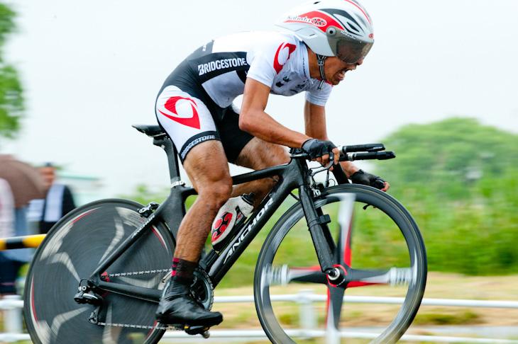 全日本選手権個人タイムトライアルで優勝した西薗良太(ブリヂストンアンカー): (c) Sonoko TANAKA