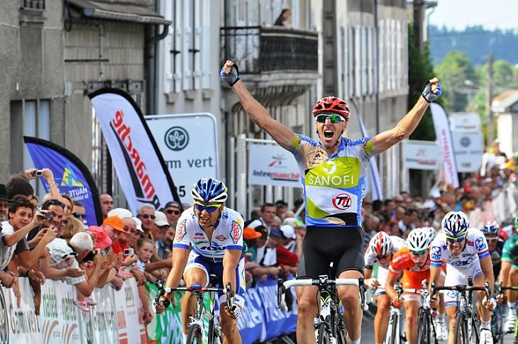 ツール・ド・リムザン2012 第1ステージを制したユーレ・コチャン(スロベニア、チームタイプ1)