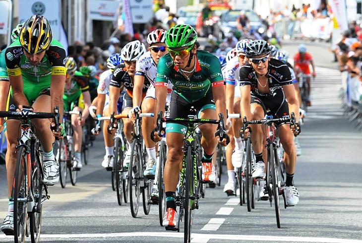 第3ステージを33位でゴールする新城幸也(ユーロップカー)