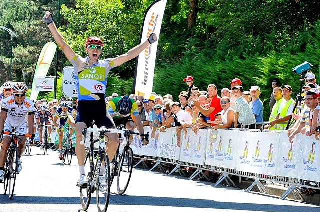 ツール・ド・リムザン2012 第3ステージを制したユーレ・コチャン(スロベニア、チームタイプ1)