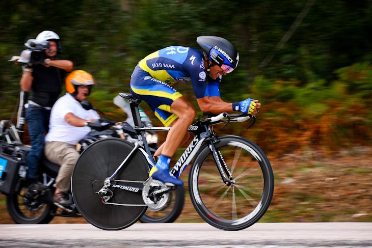 ステージ2位・17秒差 アルベルト・コンタドール(スペイン、サクソバンク・ティンコフバンク)