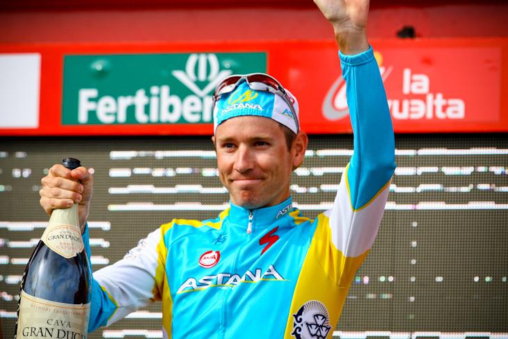ステージ優勝を飾ったフレデリック・ケシアコフ(スウェーデン、アスタナ)