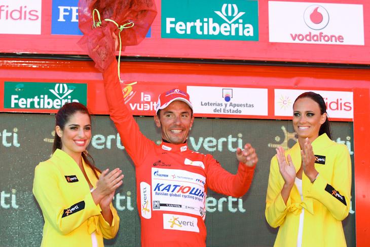 総合リードを広げることに成功したホアキン・ロドリゲス(スペイン、カチューシャ)