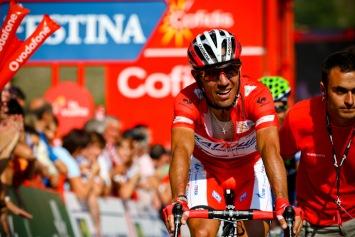 2分38秒遅れでゴールしたホアキン・ロドリゲス(スペイン、カチューシャ): photo:Kei Tsuji