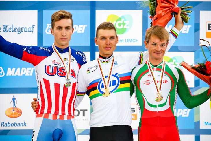 左から2位テイラー・フィニー(アメリカ)、優勝トニ・マルティン(ドイツ)、3位ヴァシル・キリエンカ(ベラルーシ)