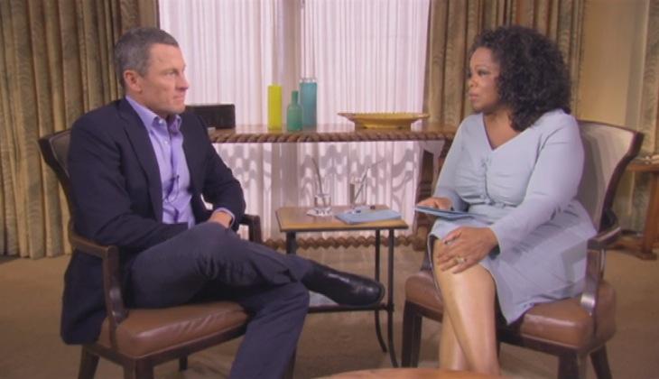 オプラ・ウィンフリーさんの質問に答えるランス・アームストロング(Oprah's Next Chapterより)