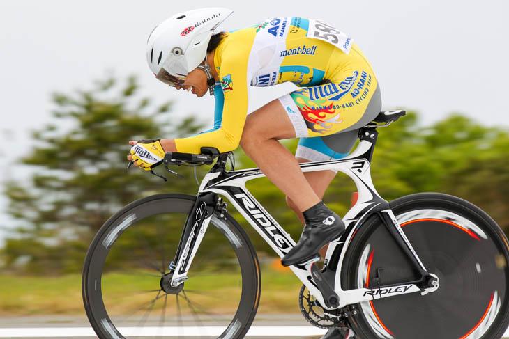 E3優勝の中川智(まんま-AO・HANI CyclingTeam)3分29秒69