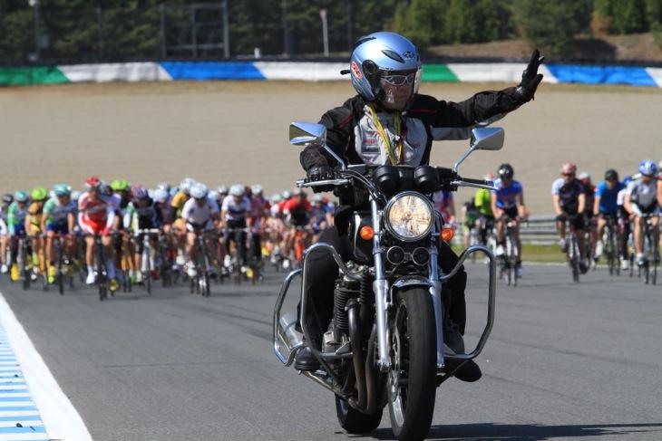 バイクによる的確な先導のおかげで安心して走ることができた