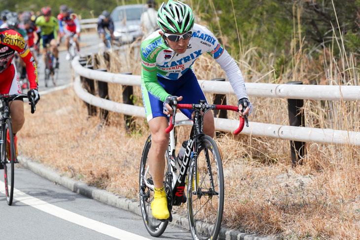 2013年3月西日本チャレンジロードを走る真鍋和幸氏