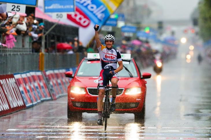 2013年ジロ第7ステージで勝利したアダム・ハンセン(オーストラリア、ロット・ベリソル)