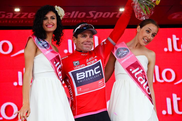 ジロ・デ・イタリアで総合表彰台を獲得したカデル・エヴァンス