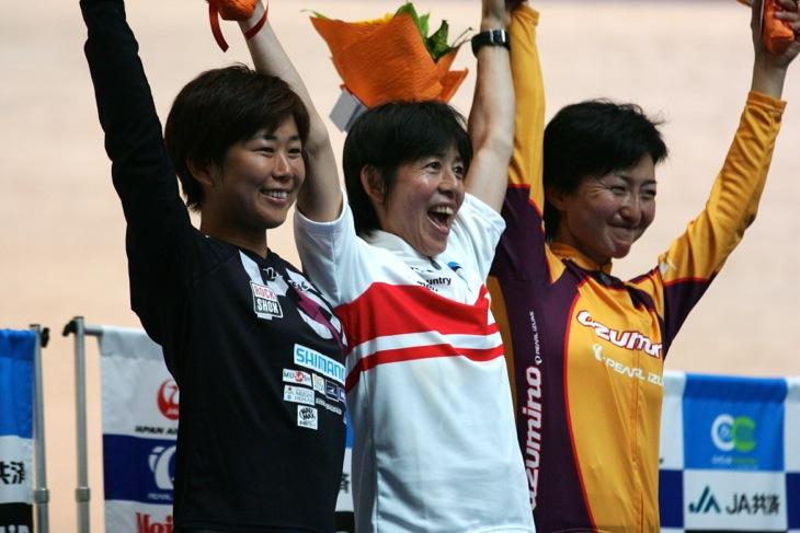 10年ぶりの全日本チャンピオンジャージを獲得し、笑顔の中込