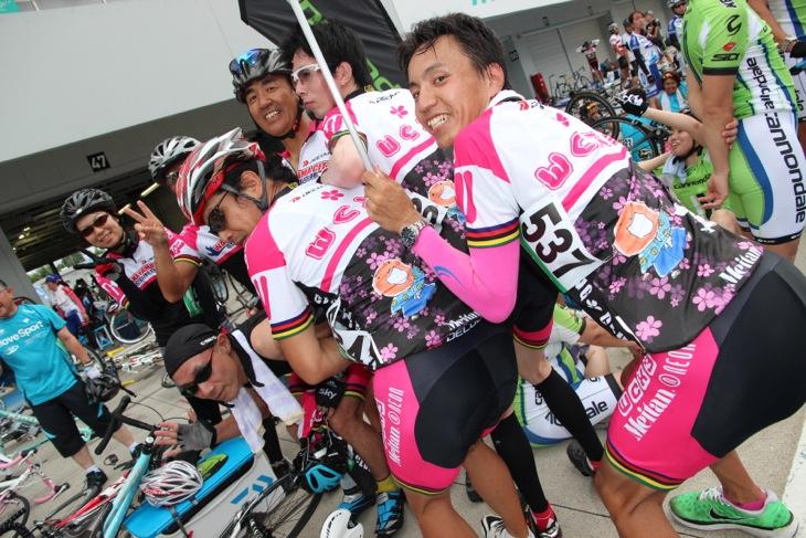 和歌山市役所サイクリングクラブの皆さん