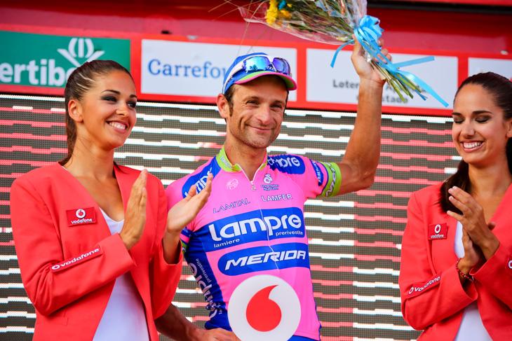 敢闘賞を獲得したミケーレ・スカルポーニ(イタリア、ランプレ・メリダ)