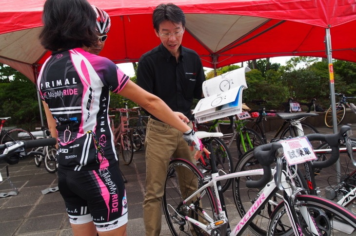 女性モデルも充実しているアンカーの自転車