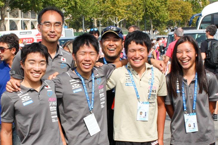 今回のジュニア選手は宮島マッサー、西メカニック、高橋監督、浅田コーチ、橋川コーチに助けられストレスなくレースに集中して臨むことが出来た