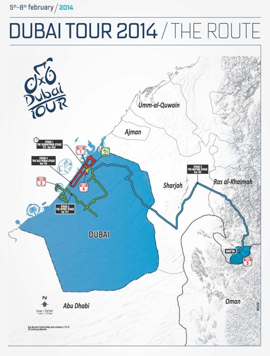 ドバイツアー2014コース全体図