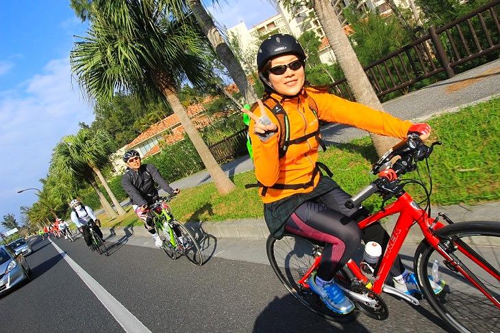 クロスバイクでも安心して走りきれるコース設定が嬉しい。