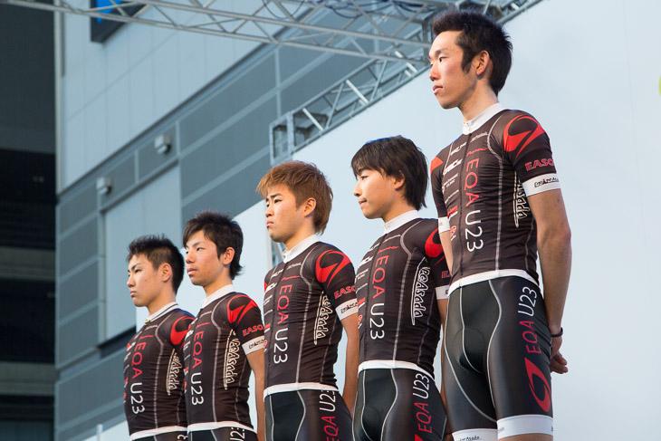ステージにEQA U23の選手達が揃う: photo:Yuichiro Hosoda