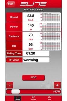 ベーストレーニング(パワーモード)画面: (c)カワシマサイクルサプライ