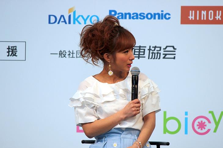 辻希美 イベント イベント最初のトークショーに登場した辻希美さん