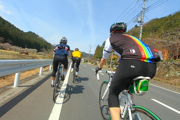 爽やかな春空に恵まれ、最高のサイクリング日和です。