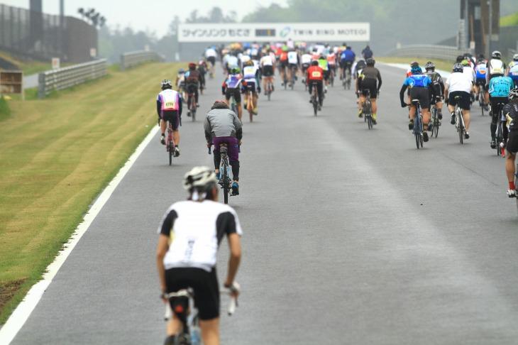 コース最大の難所であり、多くの参加者が苦戦した760mの上り