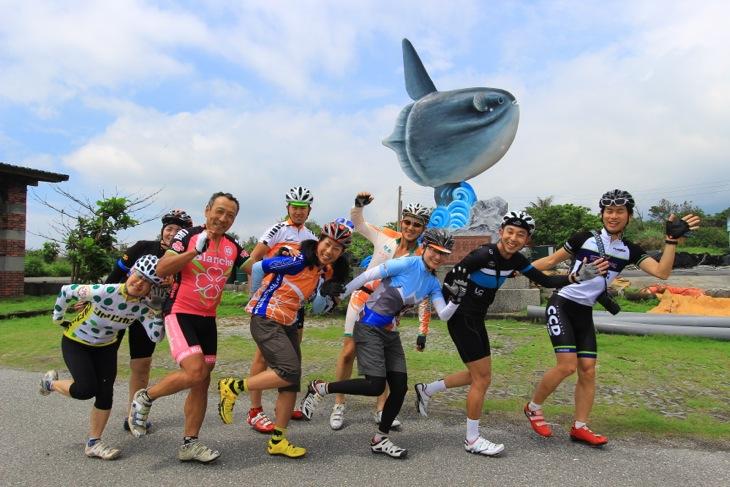 前日は花蓮近郊のサイクリングロードを皆で慣らし走行して楽しみましょう