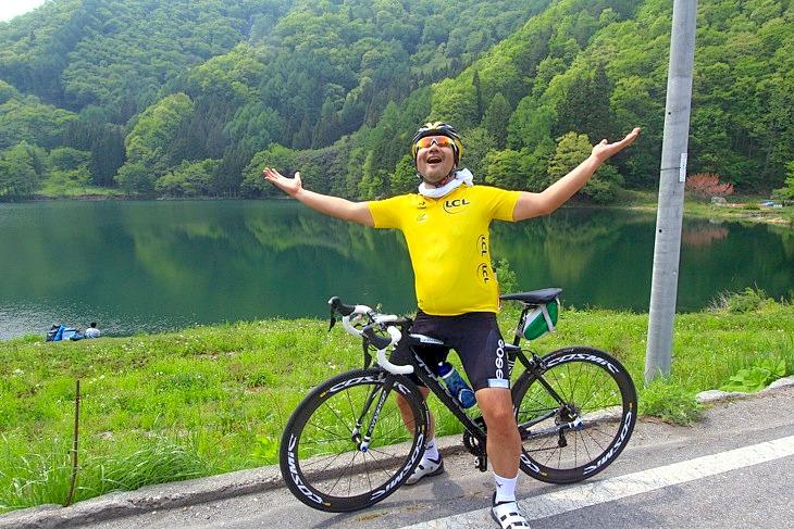 「爽やか~!」青木湖の美しい湖景に癒されます。