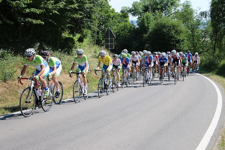 レース前半から集団をコントロールするスロヴェニアチーム